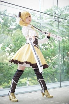 Puella Magi Madoka Magica Tomoe Mami Gun Cosplay Prop New 39 Rapid Heat Dissipation Costume Props Costumes & Accessories