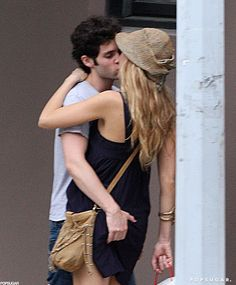 Pin for Later: Heat Up Your Summer With the Best Celebrity Kisses  Penn Badgley got a handful during an NYC makeout session with Blake Lively in July 2010.