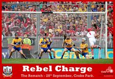 What an action packed clash between two fantastic hurling sides at Croke Park yesterday afternoon. The Cork hurlers led by Pa Cronin showed true grit to come back and almost clinch All-Ireland glory despite a strong Clare performance. Both sides will do battle once again on Saturday the 28th September... so roll on the rematch!! #RebelsAbú Croke Park, True Grit, Comebacks, Rebel, Cork, Ireland, Irish, Battle, September