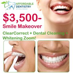 🍎Hurry Up For $3,500 Smile Makeover: ClearCorrect + Cleaning + Whitening ZOOM! 🎊Schedule Your FREE CONSULTATION Today!  🍏Affordable Dentistry of Hollywood 👉🏽http://www.affdentistry.com/ 🏥Address: 2219 Hollywood Blvd #104, Hollywood, FL 33020 📞Ph & Emergency 24/7: (786)808-9988, (954)589-2176 🕙Mo to Fr 9am-6pm; Sa 9am-1pm