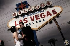 A couture wedding shot at the famous Las Vegas Sign Las Vegas Sign, Las Vegas Nevada, Wedding Shot, Broadway Shows, Couture, Signs, Wedding Photography, Wedding Photos, Shop Signs