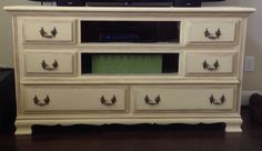 Furniture Repo - dresser turned into TV stand!