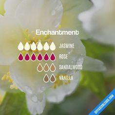 Blend Recipe: 6 drops Jasmine, 6 drops Rose, 3 drops Sandalwood, 2 drops Vanilla