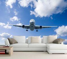 Custom papel de parede, vliegtuig Sky Wolken wallpapers, woonkamer slaapkamer TV achtergrond muur 3d muurschilderingen behang(China (Mainland))