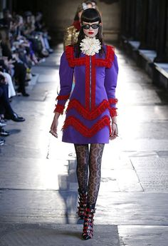 See Every Runway Look From Gucci Cruise 2017 Fashion Line, Milan Fashion, Fashion 2017, 90s Fashion, Love Fashion, Runway Fashion, Fashion Brands, High Fashion, Fashion Show
