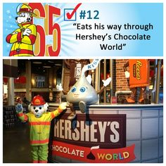 Sparky got to spend a day eating his way through Hersheypark and Chocolate World in Hershey, PA.