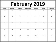 Free Printable Appointment Calendar February 2019 197 Best Free February 2019 Calendar Printable images | February