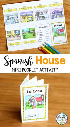 Spanish House mini booklet activity.