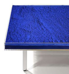 Table Bleue by Yves Klein | From a unique collection of antique and modern coffee and cocktail tables at https://www.1stdibs.com/furniture/tables/coffee-tables-cocktail-tables/