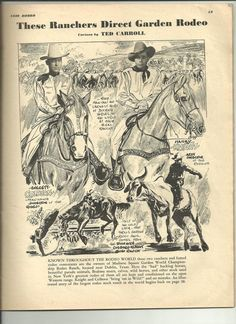 EVERETT COLBURN & HARRY KNIGHT - Managing Directors - World Championship Rodeo Company - 1939 Madison Square Garden Rodeo - Rodeo Program