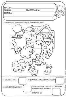 Atividade pronta - Probleminha com temática animais