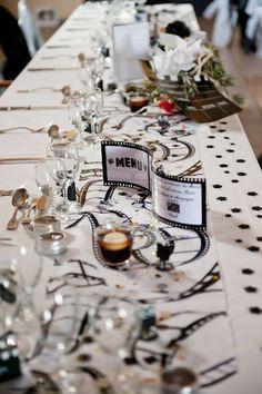 F&J : déco de table (BDG Photography) - mariage cinéma - Plus de décoration…