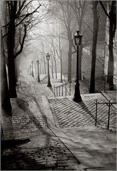 Escadas de Montmartre.