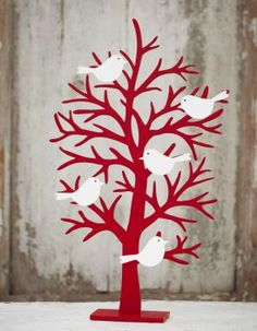 Wooden Robin Christmas Decoration