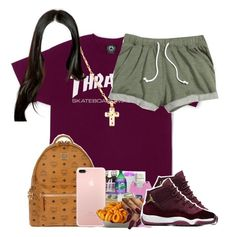 """""""4:42"""" by legendaryjordyn ❤ liked on Polyvore featuring MCM and Junk Food Clothing"""