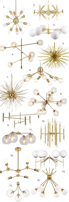 Find 15 gorgeous Mid-century modern chandelier lighting options right here - Sputnik chandeliers, bubble lights, branch lighting and more. So much drama! Mid Century Modern Chandelier, Mid Century Modern Lighting, Mid Century Modern Living Room, Mid Century Modern Decor, Midcentury Modern, Modern Gold Chandelier, Chandeliers Modern, Mid Century Modern Bedroom, Mid Century Modern Kitchen