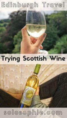 Edinburgh Travel- Trying locally produced Scottish fruit Wine in Scotland!