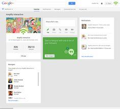 BLOG: New Google+ Dashboards http://www.amplify-interactive.com/blog/social-media/new-google-plus-dashboards/