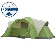 Coleman Montana 8 person tent with hinged door is a very popular family camping tent with a great packed size and the price hard to match. Best Tents For Camping, Cool Tents, Tent Camping, Outdoor Camping, Outdoor Gear, Camping Gear, Camping Outdoors, Camping Stove, Backpacking Tent