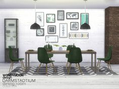640331d7c122a Darmstadtium Dining Room by wondymoon from The Sims Resource for The Sims 4