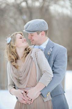 DIY outdoor winter wedding