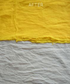 Elegance & Elephants: Natural Fabric Dyeing with Tumeric & Coffee (fades with washing, but for the rarely washed items the colors look awesome) Fabric Yarn, How To Dye Fabric, Linen Fabric, Dyeing Fabric, Scrap Fabric, Tumeric Coffee, Textiles, Natural Dye Fabric, Natural Dyeing