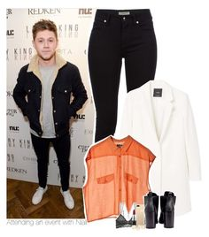 """""""Attending an event with Niall"""" by heslovely ❤ liked on Polyvore featuring Burberry, MANGO, Cheap Monday, Cosabella and MAC Cosmetics"""