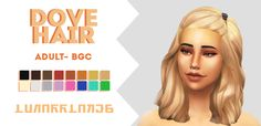 "lunarrlakes: "" I got so many requests to convert this hair to adults, so, here ya guys go! I don't know why I didn't think of doing this initially, because this is super cute. :') ★ info & download link below ★ • teen - elder only ( toddler version..."