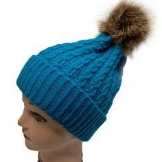 Dublin Sparkle Womens Bobble Acrylic Wool Diamante Winter Warm Beanie Hat Pom