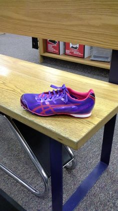 Asics Hyperrocket Track Spikes, purple track spikes, girls' track spikes
