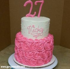 Marvelous Photo of Tiered Birthday Cake Pictures . Tiered Birthday Cake Pictures 12 2 Tier Birthday Cakes Photo Two Tier Pink Birthday Cake 2 Tier 27th Birthday Cake, 2 Tier Birthday Cakes, Birthday Cake For Him, Birthday Cake Pictures, Homemade Birthday Cakes, Birthday Ideas, Birthday Nails, Happy Birthday, Cupcake Cakes