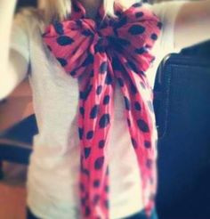 Tie a long scarf into a cute bow