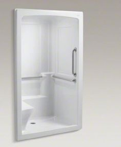 MAAX 80 In H X 34 In W X 34 In L White Round 3 Piece Corner Shower Kit At Low