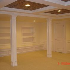 Basement Design, Pictures, Remodel, Decor and Ideas - page 14 (to do: box in the old style/round support columns in basement)