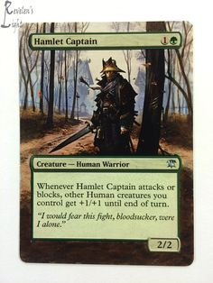 Hamlet Captain - Full Art - MTG Alter - Revelen's Light Altered Art Magic Card