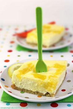Lemon Swirl Cheesecake Bars by CinnamonKitchn, via Flickr