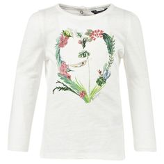 For an adorable addition to her casual collection, look to Tommy Hilfiger. A floral heart featuring glittery detailing on the flow