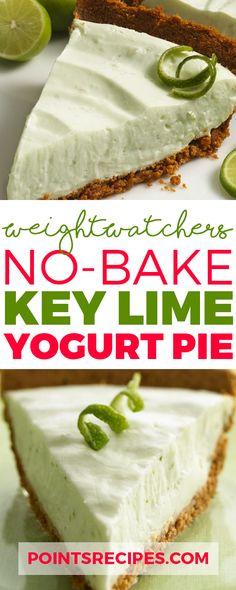 No-Bake Key Lime Yogurt Pie (Weight Watchers SmartPoints)