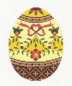 Lee Jeweled Egg Handpainted Needlepoint Canvas or Ornament HP 438 | eBay