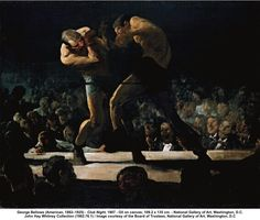 George Bellows (American, 1882–1925) - Club Night, 1907 - Oil on canvas; 109.2 x 135 cm. - National Gallery of Art, Washington, D.C. John Hay Whitney Collection (1982.76.1) / Image courtesy of the Board of Trustees, National Gallery of Art, Washington, D.C