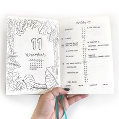 "809 mentions J'aime, 6 commentaires - Natalie (@pages2plans) sur Instagram : ""And back to my Bullet Journal! Here's my tropical-ish November monthly log since we are gearing up…"""