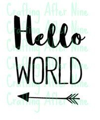 Check out this item in my Etsy shop https://www.etsy.com/listing/269114942/instant-download-hello-world-coming-home