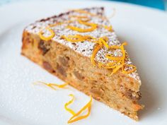 Moist carrot and sultana cake