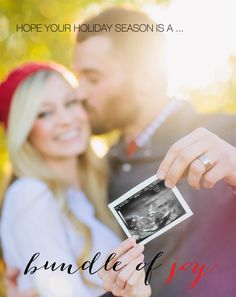 18 Creative Holiday Pregnancy Announcements That Are Crazy Cute via Brit + Co
