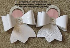 Cute little Angels are made using the Gift Bow Die