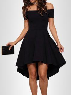 Sexy Off Shoulder Mini Irregular Dress