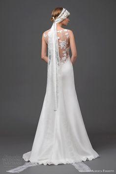 alberta ferretti bridal 2015 wedding dress gemma sleeveless gown illusion back