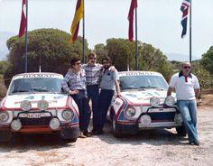 Acropolis Rallye 1979 (31) Václav BLAHNA - Jiří MOTAL / Škoda 130 RS (41) Svatopluk KVAIZAR - Jíří KOTEK / Škoda 130 RS