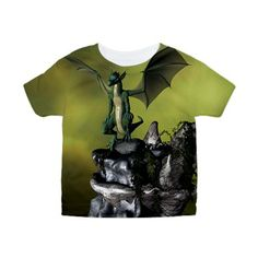 #Dragon on a #rock, Toddler #All #Over #Print Tee