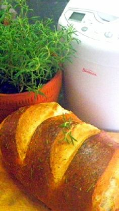 Bread Machine 10 Minute Rosemary Bread... YOU CAN DO THIS... really, rustic home made bread made easy with a bread machine to knead and rise using a NEVER FAIL recipe.  Very little work and you CAN DO THIS!